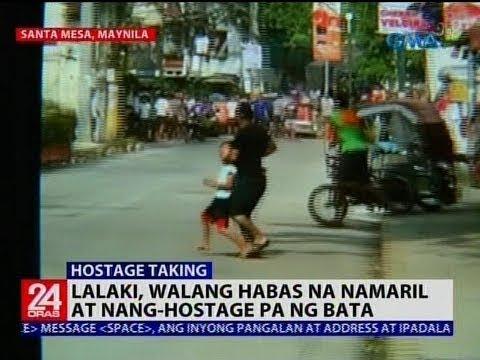 Lalaki, walang habas na namaril at nang-hostage pa ng bata