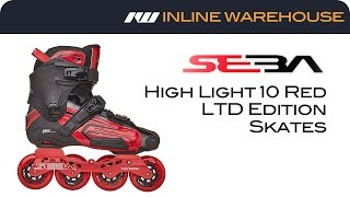 Seba High Light 10 Limited Edition Red Inline Skates Review