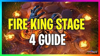 *NEW* STAGE 4 FIRE KING SKIN KEY UNLOCK LOCATION FORTNITE BATTLE ROYALE GUIDE