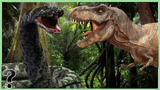 What If The Titanoboa Snake Fought A T-Rex?