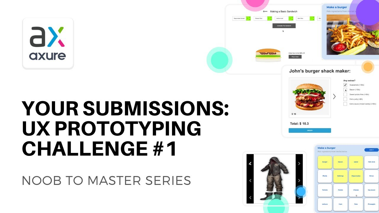 Your Submissions For Ux Prototyping Challenge 1 Axure Rp Noob To Master Youtube