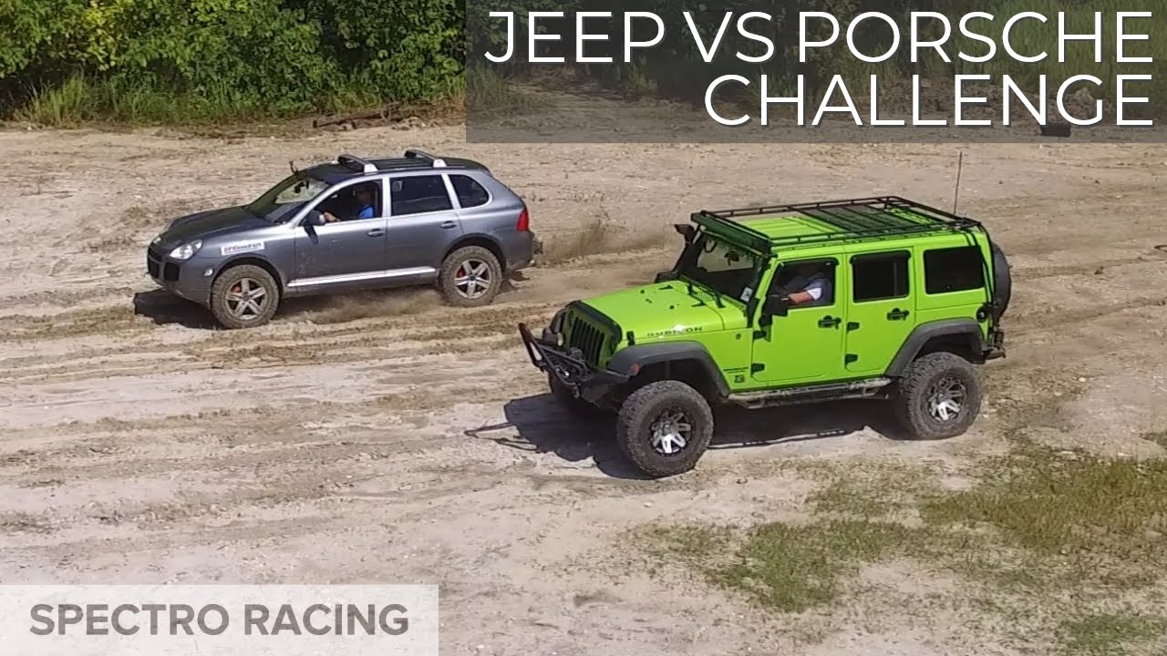 Jeep Vs Porsche Cayenne Turbo Hill Climb Rock