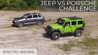 Jeep vs Porsche!?!? - Cayenne Turbo Hill Climb, Rock Crawling and Mud pits