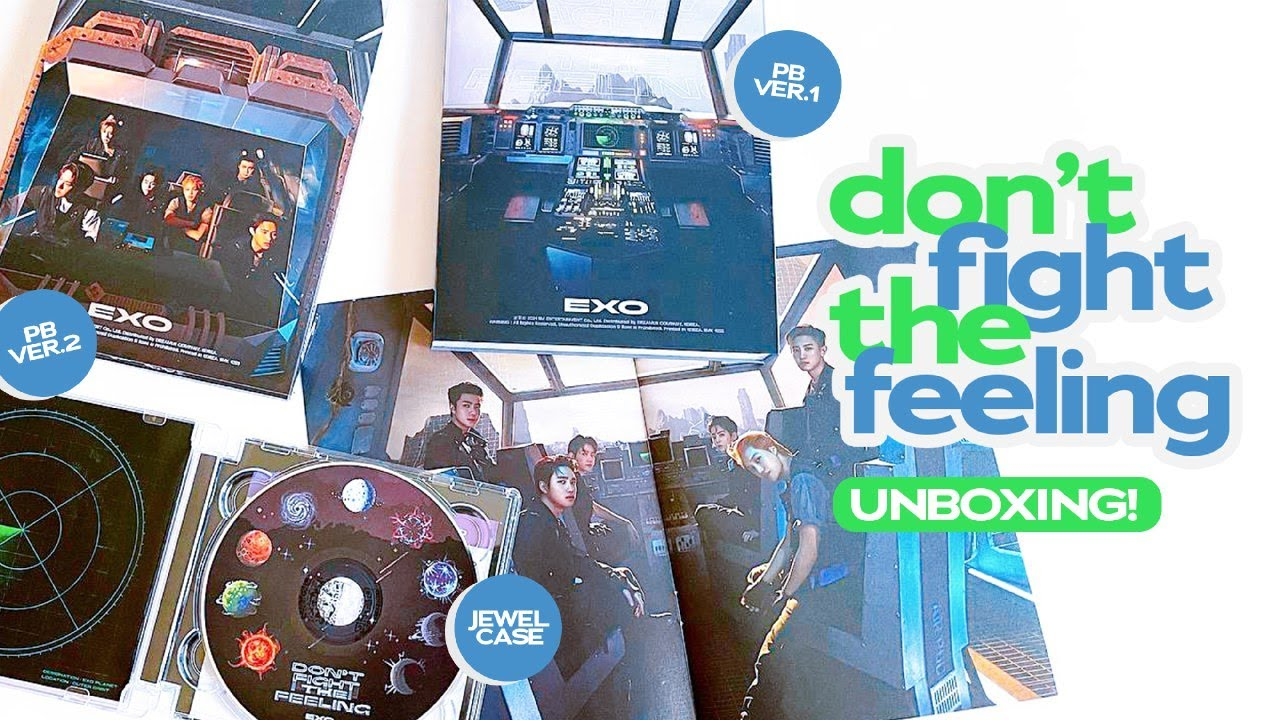 Giveaway + Unboxing EXO's 엑소 Don't Fight The Feeling Special Albums ♡ Photobook + Jewel Case Version