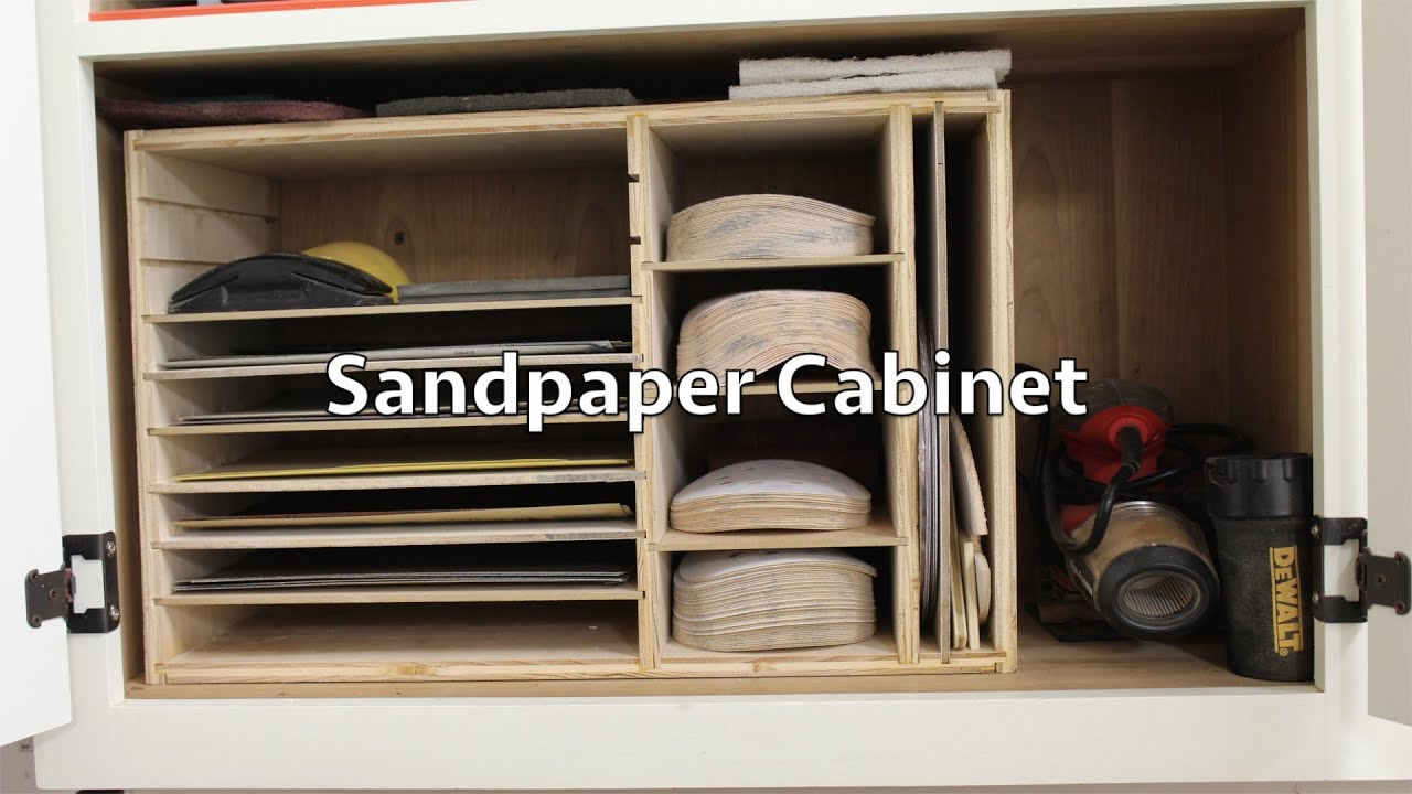 How To Build This Simple Sandpaper Cabinet Youtube