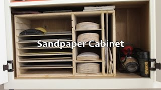 How To Build This Simple Sandpaper Cabinet
