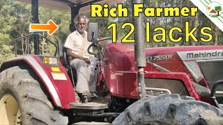 New Mahindra NOVO 755 DI Tractor With old man   New Tractor Novo 75 HP   4WD Tractor 🚜