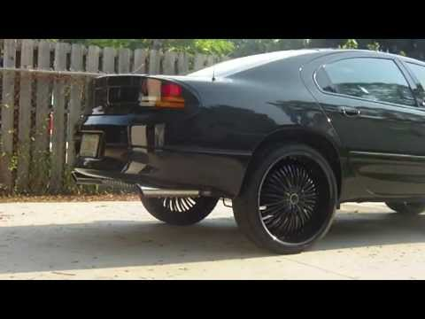 1999 Dodge Intrepid on 24's highs amp/battery install complete. - YouTube