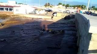 Giovinazzo, il deflusso delle acque dopo il nubifragio