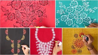Liquid Embroidery Designs ( Part-3) for Kurtis / Saree / Blouses | Mirror & beads work Designs