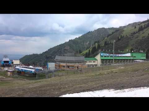 Ski resort Chimbulak (Горнолыжный курорт Чимбулак) Almaty, Kazakhstan May 2015