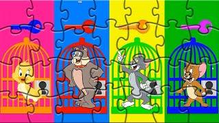 Том и Джери - Tom and Jerry - Мультик игра пазлы для детей