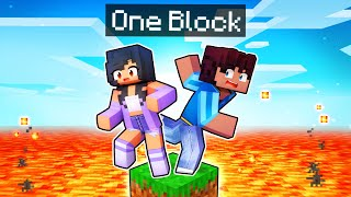 Minecraft But We're STUCK on ONE BLOCK!