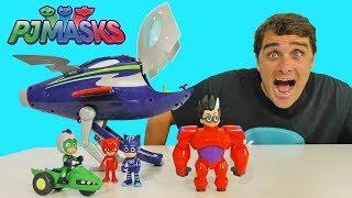 PJ Masks Super Moon Rocket + Romeo's Big Hero Six Suit ! || Disney Toy Review || Konas2002