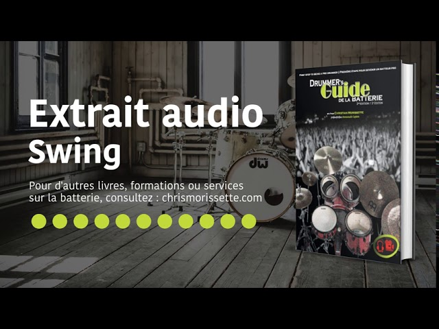 Extrait audio Swing - Drummer's Guide de la batterie