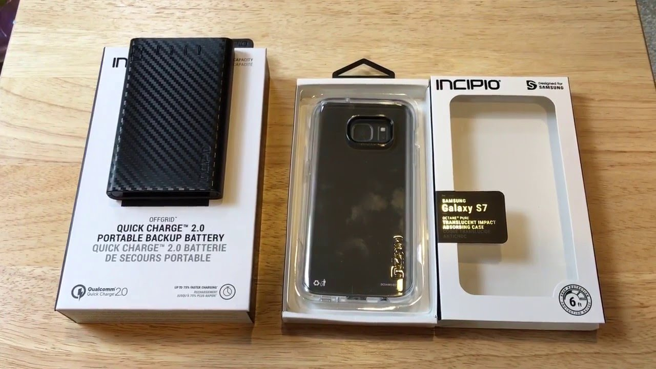 brand new d532c ec879 OffGRID Incipio Quick Charge 2.0 & Galaxy S7 Octane Unboxing 5-6-16