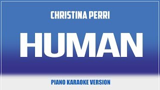 Gambar cover Human (Piano Version) KARAOKE - Christina Perri
