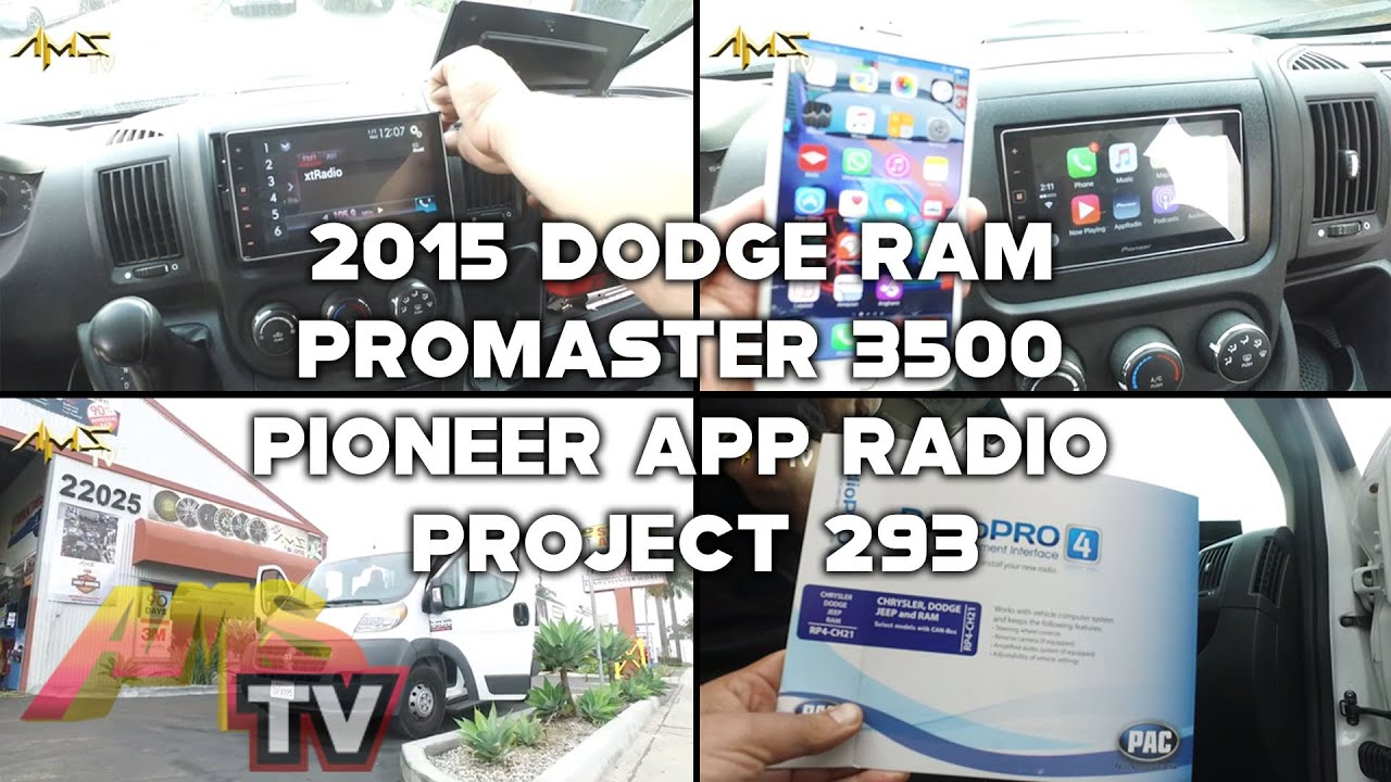 maxresdefault 2015 dodge ram promaster 3500 pioneer app radio project 293 youtube Ford Radio Wiring Diagram at bayanpartner.co