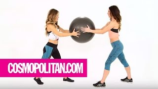 6 Exercises to Get Fit AF With a Friend | Cosmopolitan