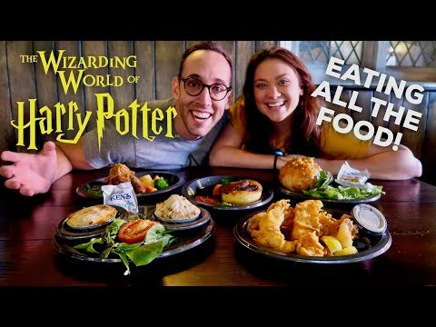 ALL THE ENTREES AT THE LEAKY CAULDRON | WIZARDING WORLD OF HARRY POTTER UNIVERSAL STUDIOS