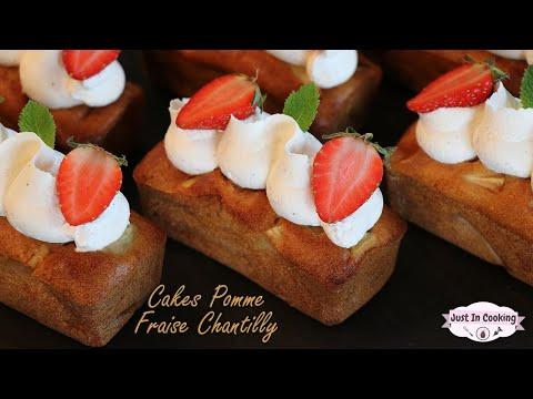 recette-de-cakes-aux-pommes,-fraises-et-chantilly-vanille