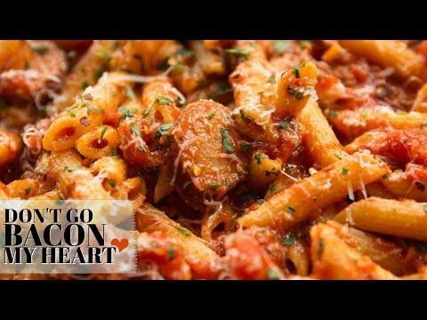 Penne Arrabiata With Smoked Sausage