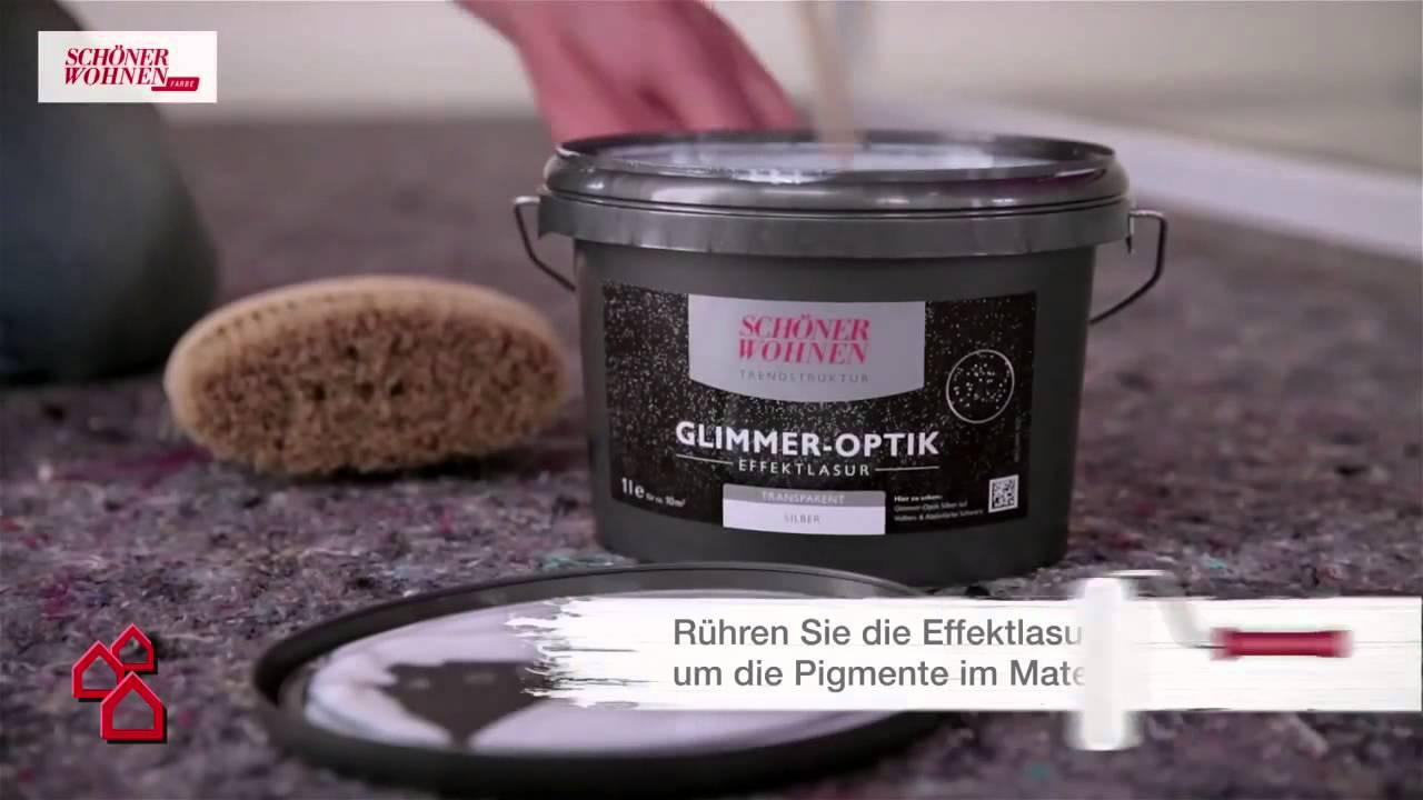 Schöner Wohnen Schweiz bauhaus tv produktvideo trendstrukturen glimmer optik