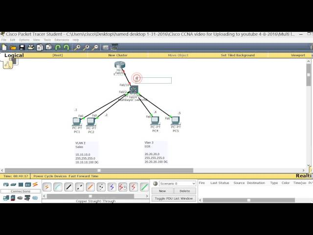Cisco CCNA How to configure Multi-Layer Switch - ASM , Rockville