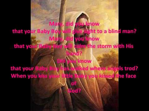 Mary Did You Know lyrics - YouTube