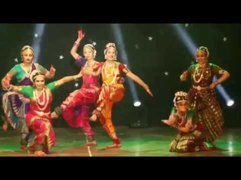 Hey Ganraya Semi-Classical Bharatanatyam Dance with Live Painting on stage