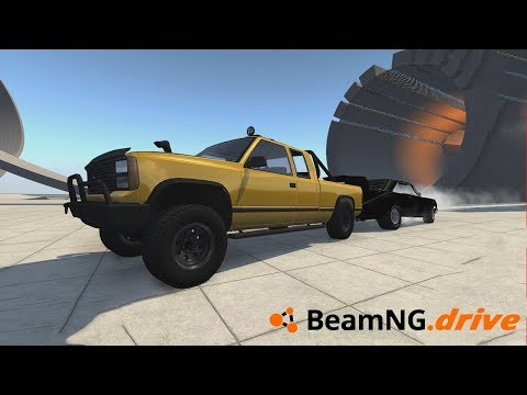 BeamNG.Drive - 18L V8 VS 10000 BHP TUG OF WAR