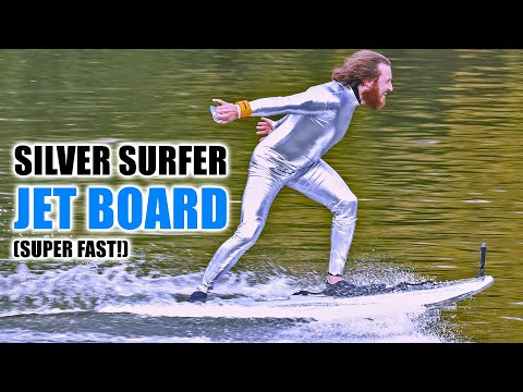DIY Silver Surfer Surfboard goes SUPER FAST!