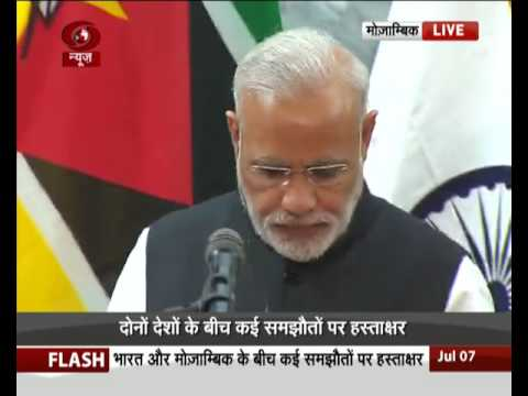 PM Modi in Mozambique: Signing of agreements & joint press statement
