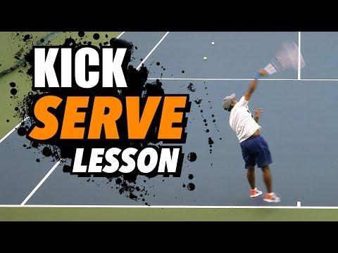 KICK SERVE Tennis Lesson: Technique for ACCURACY + SPIN
