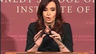 A Public Address by Her Excellency Cristina Fernández de Kirchner, President of Argentina