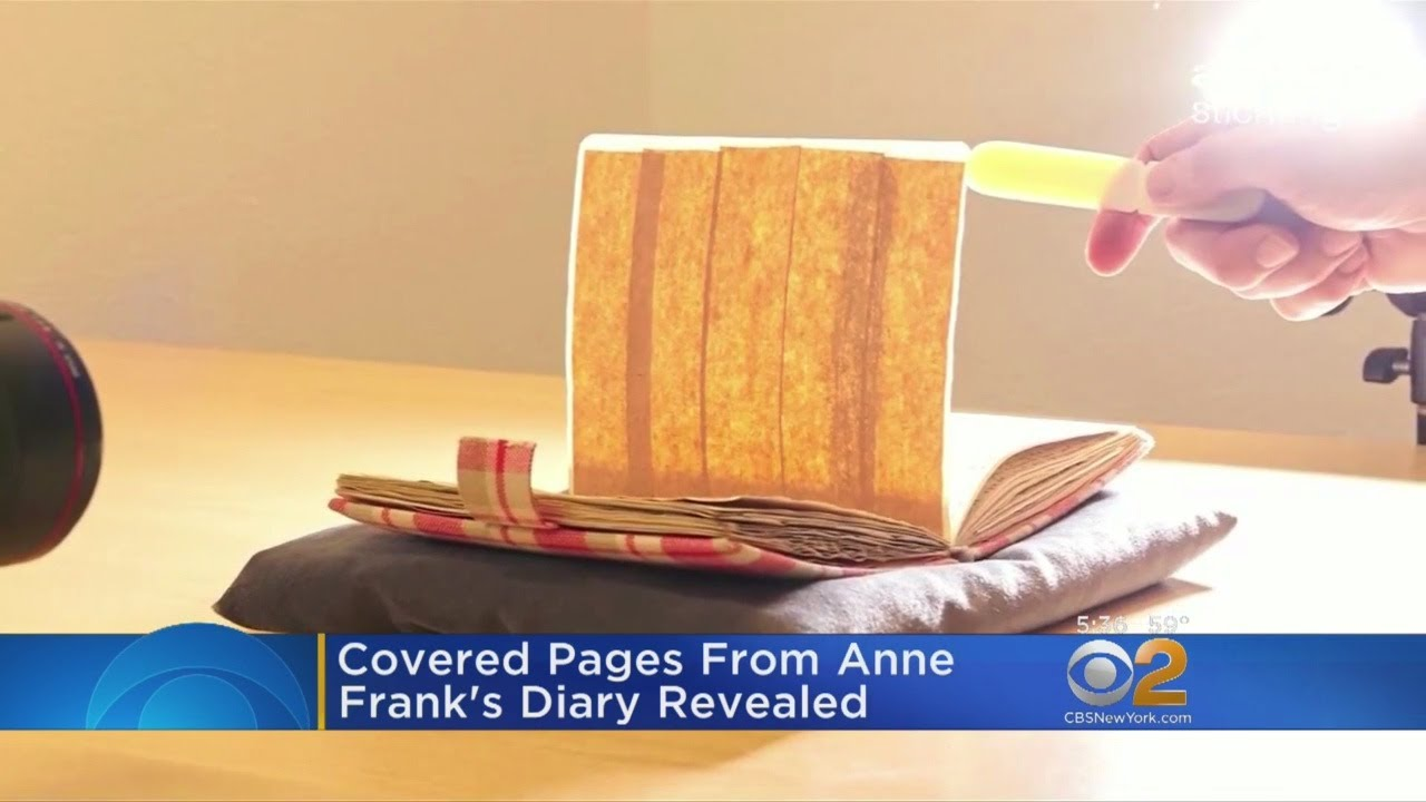 Museum Uncovers Hidden Pages From Anne Frank S Diary Youtube