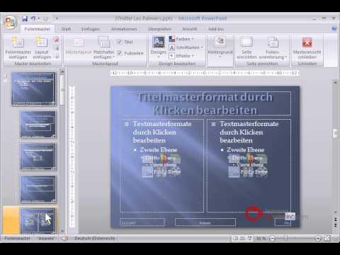 Powerpoint Präsentation Tutorial Deutsch Folienmaster - YouTube