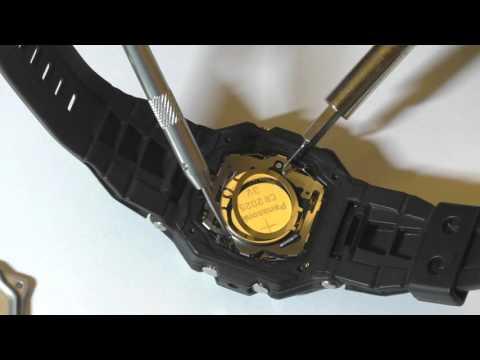 Замена батарейки в часах Casio G-Shock G-7800