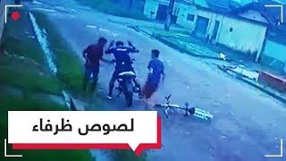 لا تخلو من طرافة.. سرقة دراجة نارية باستخدام دراجة هوائية   RT Play