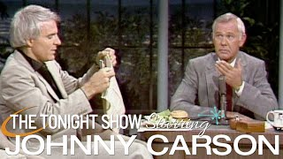 """Wild & Crazy Guy"" Steve Martin Drops By And Orders Dinner on Carson Tonight Show"
