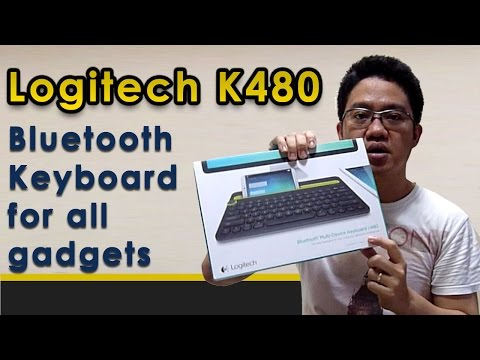 Unboxing and Reviewing Multi Device Bluetooth Keyboard - Logitech K480  in Bahasa