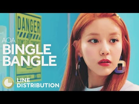 AOA - Bingle Bangle (Line Distribution)