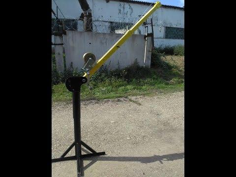 Самодельный Мини кран на 400кг. Подробная инструкция изготовления.