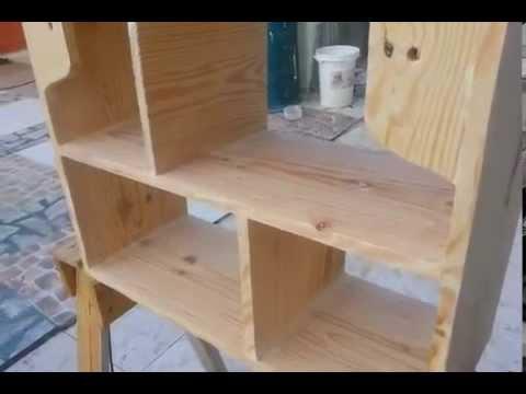 Como hacer librero hecho de forma sencilla youtube for Como construir un kiosco en madera