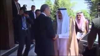 اردوغان يتحدت بالعربية مع الملك سلمان وأبنه ويرحب بهم بحفاوة