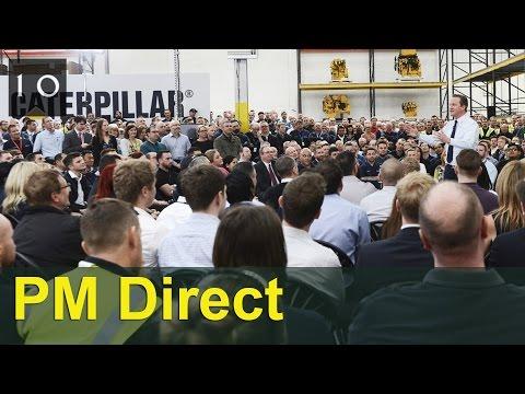 PM Direct at Caterpillar in Peterborough, 28 April 2016