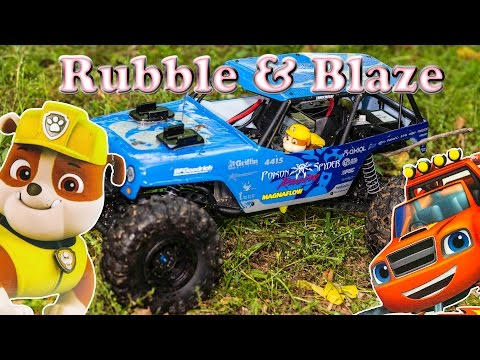 Paw Patrol And Blaze And The Monster Machines Hide N Go