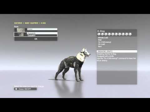 Metal Gear Solid 5 Phantom Pain - D-Dog / DD Customization (Max Bond Level)