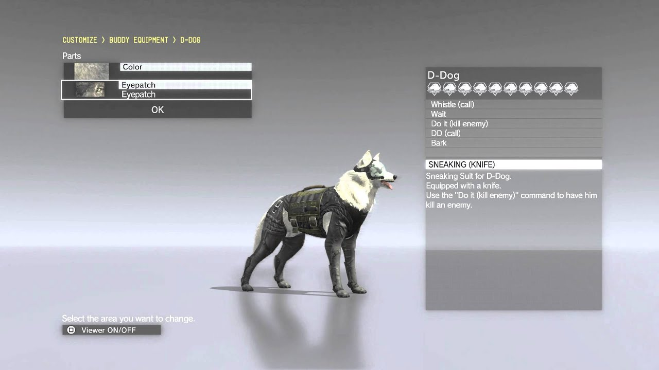 Metal Gear Solid 5 Phantom Pain D Dog Dd Customization