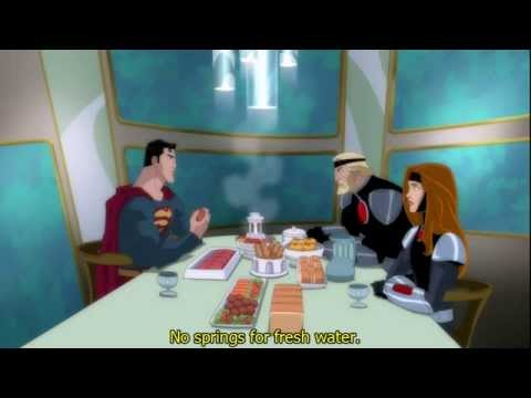 Superman Unbound Zor-El, Alura & Kryptonian Food Clip English Captions